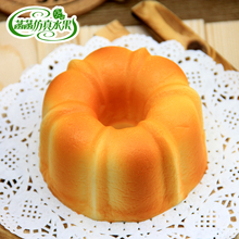 High artificial big cake bread PU material fragrance super