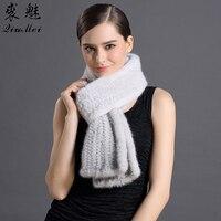 180cm Winter Women Natural Fur Scarves Real Mink Fur Scarf Fashion Luxury Wrap Winter Neck Warmer Ladies Thicken Mink Fur Scarf