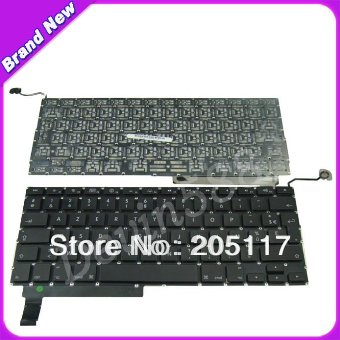 Hot selling French Keyboard for MacBook Pro Unibody A1286 15 09/10/11 FR layout,100%working brand new azerty fr french keyboard backlight backlit 100pcs keyboard screws for macbook pro 15 4 a1286 2009 2012 years