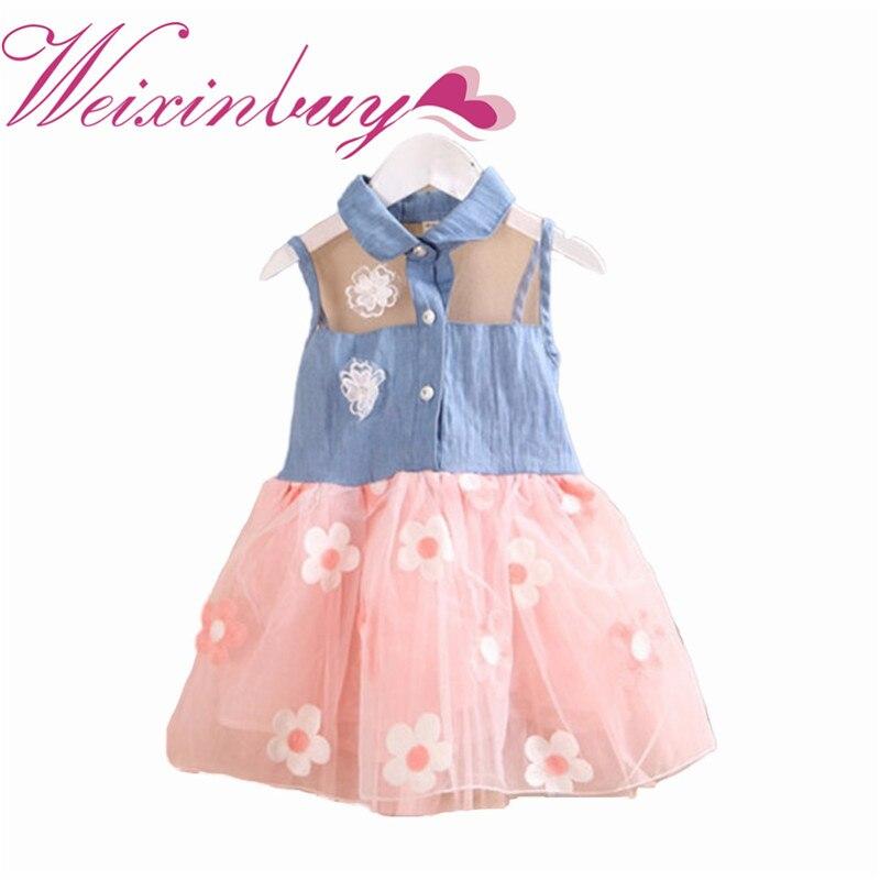 Baby, Dresses, Sleeveless, Dress, Princess, Denim