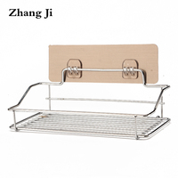 ZhangJi Bathroom Shelves Stainless Shampoo Holder Shelf Classic Design Towel Rack Storage 35CM ZJ220