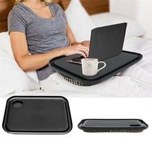 42×33 cm Handy Bandeja de Colo Laptop Mesa portátil Mesas Mesa de Aprendizagem Ao Ar Livre Preguiçoso Novo Laptop Stand Titular Para cama Para Notebook