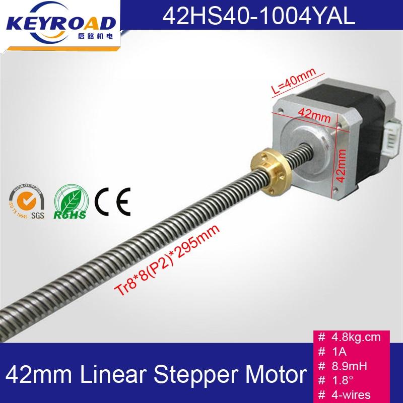 4.8kg.cm 1A Nema17 Screw Rod Linear Stepping Motor 3D printer stepper motor / Z-Motor with Trapezoidal Lead Srew цена 2017