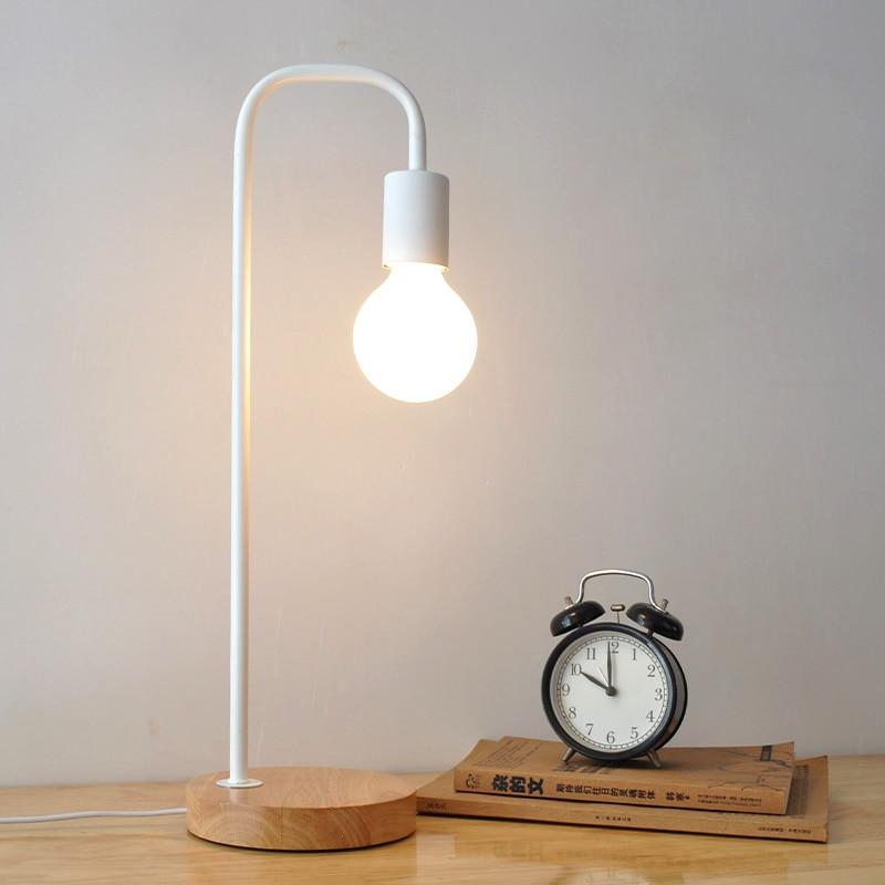 In Design; Modern Metal Led Table Lights Office Decorative Cloth Lampshade Desk Lamps Bedroom Bedside Reading Table Lamps Kitchen Fixtures Novel