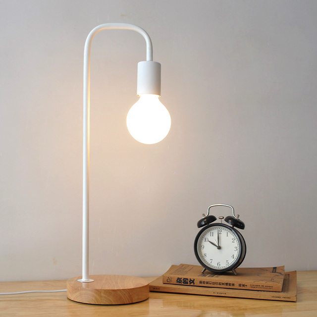 Metal Black Table Lamps Bedside Table Light Abajur Modern