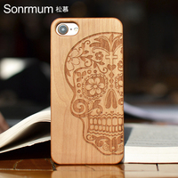 Customized Name Carved Natural Individuation Wood Phone Cases For Iphone 6 6plus 6s 6Splus 7 7