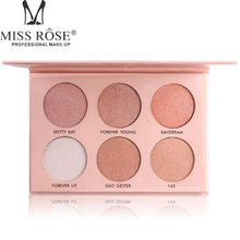 MISS ROSE high light perspective V face powder six color rendering gloss white cheek reinforcing profile concealer