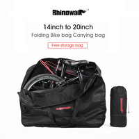 RHINOWALK 141620 Big Folding Bike Carrier Carry Packing Bag Foldable Bicycle Transport Bag Waterproof Loading Vehicle Pouch
