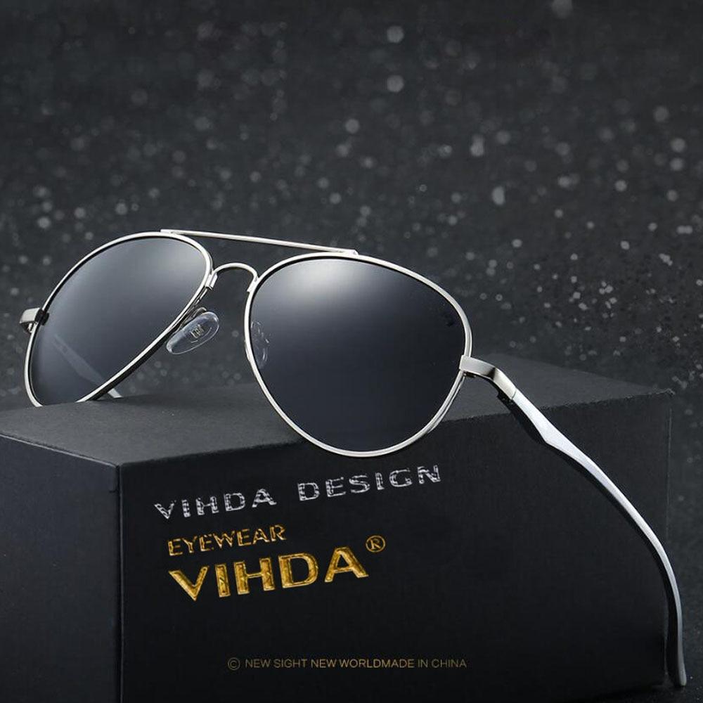 VIAHDA aliuminio magnio prekės ženklo dizaineris, turintis polarizuotų vyrų moterų akinius nuo seno mados vairuotojo saulės akinius