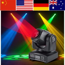 2pcs/set 30W LED Moving Head Stage Light DMX512 DJ Disco Light luces discoteca Pub Party Effect Lights EU Plug 220~240V(China)