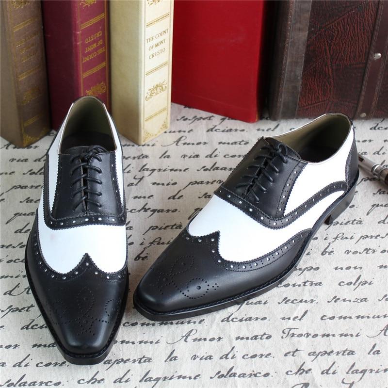 MALONEDA Culoare mixtă albă și albă Hnadmade Pantofi originali - Pantofi bărbați - Fotografie 5
