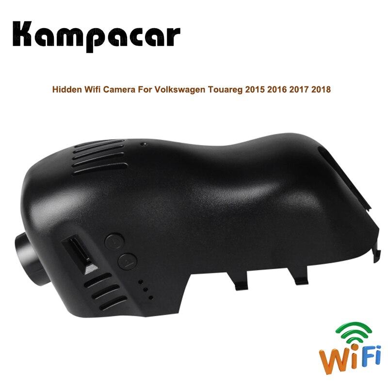 Kampacar Wifi Video Recorder Car Rearview Mirror Mini Dvr Dash Cam Camera For Volkswagen Tuareg 2015