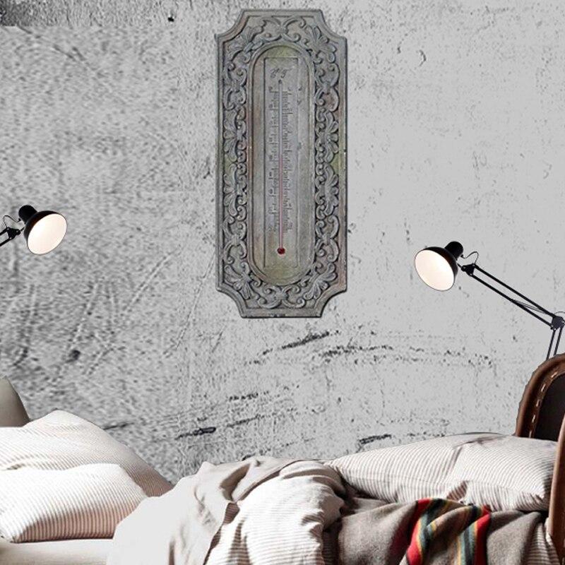 Barokke muur thermometer europese retro hars 3D stereo wanddecoratie thermografiek handwerk van woonkamer of cafes - 3
