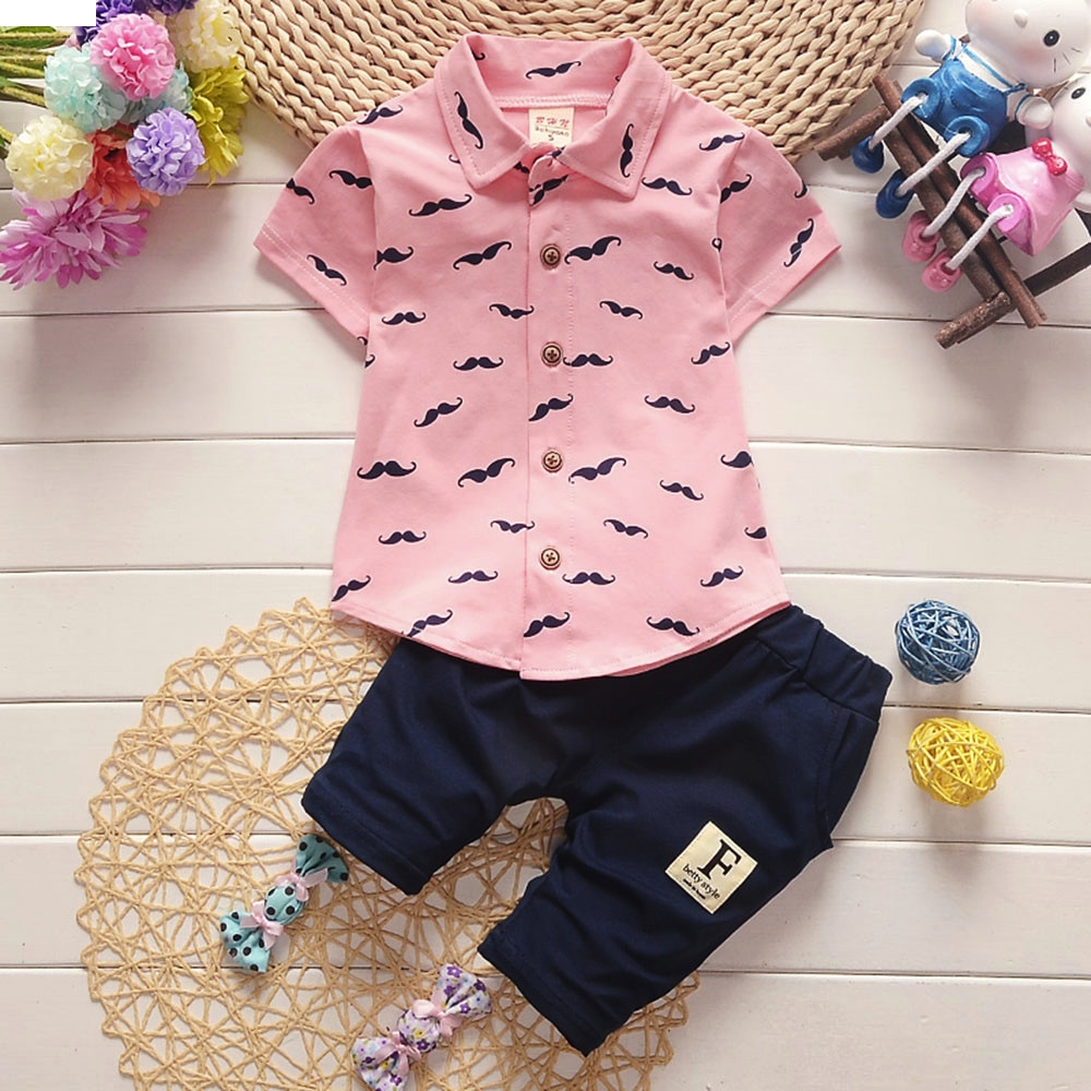 TELOTUNY children set Polyester children clothes boys clothes Toddler Kids Baby Beard T Shirt Tops Shorts Pants Outfit nov24