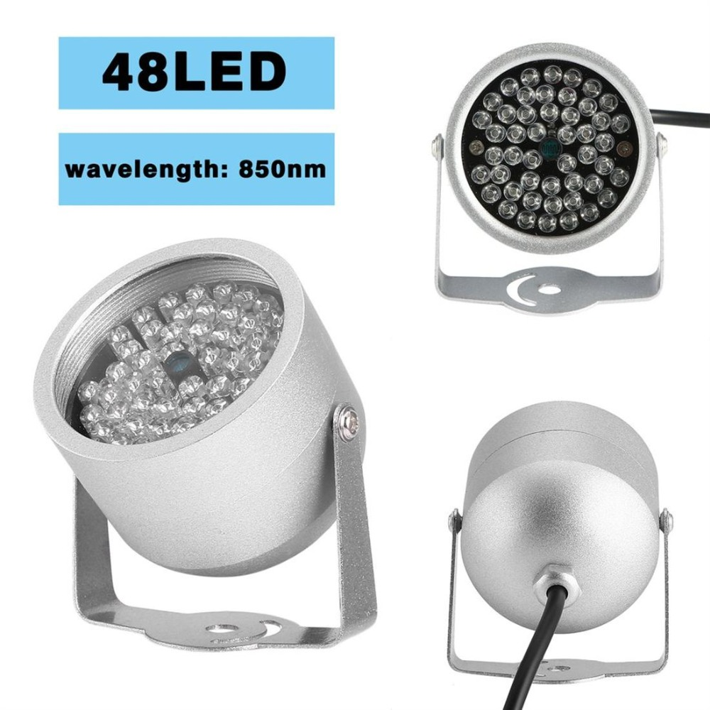 48 LED Illuminator Light Infrared IR Led Lamp 850nm Wavelength IR Illuminator Night Vision Lighting For CCTV Camera Fill Light