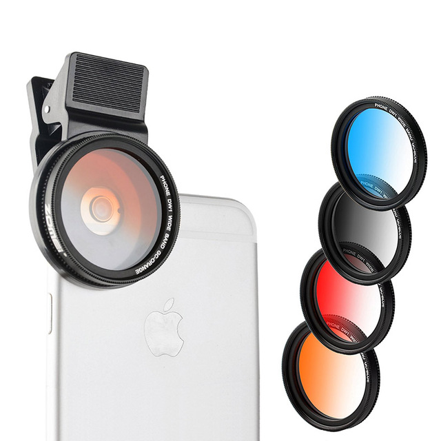 Zomei 37MM Professional Phone Camera Lens Graduated Filter for iPhone Samsung Galaxy Windows & Android Smartphones