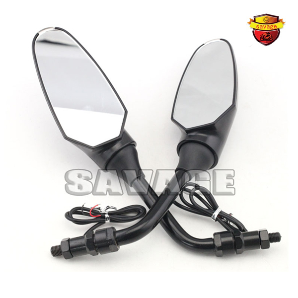 TNT Motorcycle Side Rearview Mirror with LED Turn Signal Light Clear lens For Benelli BN600 Tre-k 899 1130 motorbike mirrors motorcycle accessories side mirror cnc aluminum mirror rearview for benelli 600 bn600 bn300 bmw k1300 k120