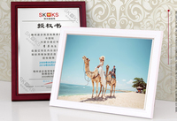 A3/A4/A5 Acrylic Photo Frame wood color wooden Photo Picture frame free standing or hang be used for Show photos certificates