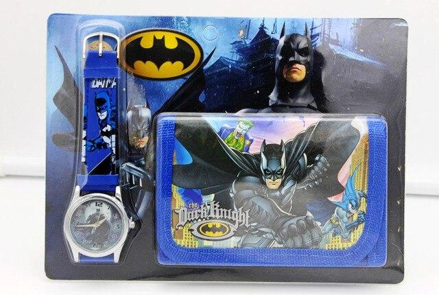 1pcs Hot sale! Wholesale New Lot Batman sets cartoon kids part Set watch kids Wr