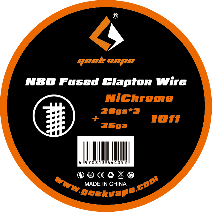 original GeekVape N80 Fused clapton wire(26ga*3+36ga) for electronic cigarette tank vape accesorry