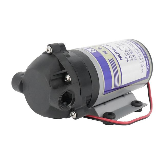 75 400 gpd 24v hidrofor diyaframlı pompa doğal basınç vakum su filtresi parçaları konut ters osmoz sistemi
