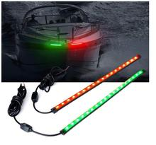 18 LED Red Green Boat Bow Navigation Light for Marine Boat Vessel,boat light ,The bow lamp,Bow warning light led marine bow navigation light 2 nm red green 3540 one pair