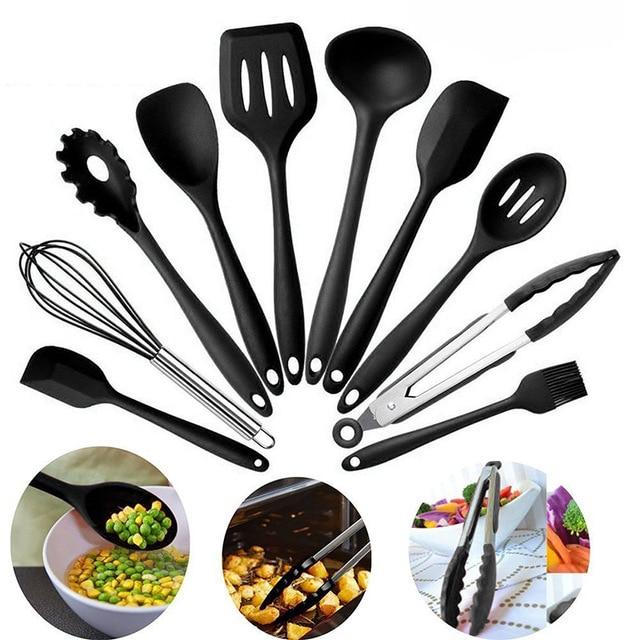 Nuevo diseño de utensilios de cocina de silicona resistente al calor  utensilios de cocina herramienta de cocina antiadherente juego de  utensilios de ...