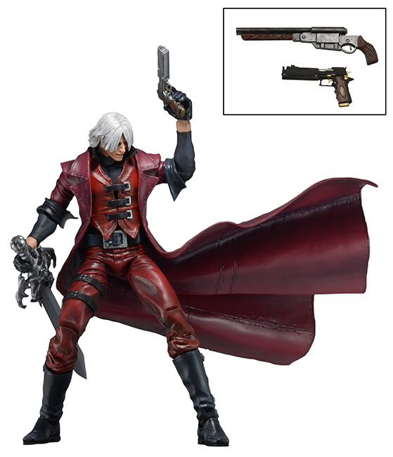 NECA 7-inch Dante Devil May Cry Dante Movable Action Figure Doll Model devil may cry 4 dante cosplay wig halloween party cosplay wigs free shipping
