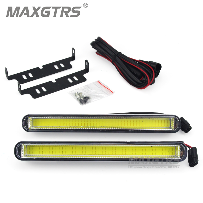 2Pcs/lot Universal 20.5cm COB Driving Fog Lamp DRL Super Bright Car Daytime LED light Car Daytime Running Lights Car Styling itimo 2pcs led car headlight h3 headlamp auto fog lamp drl cob driving bulb car daytime running light car styling super bright