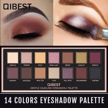 QIBEST Makeup Studio Eyeshadow Waterproof Glitter Palette Sombras De Profesional Rose Cosmetics Matter Shimmer