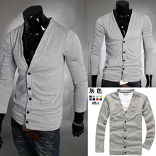 rushed fad fashion slim v-neck cotton sweater male cardigan 2014 new limited hot sale real special offer direct selling