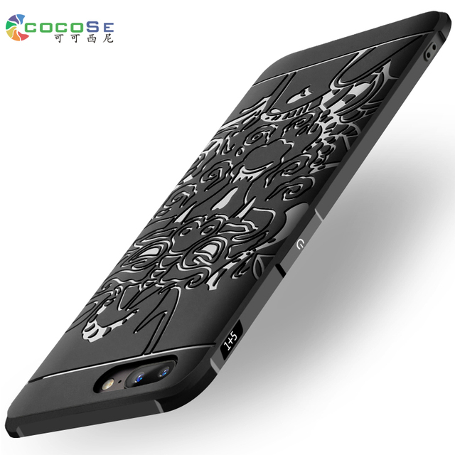 OnePlus 5 Case Silicon Back Cover Luxury 3D Carved Dragon Original COCOSE Soft TPU Phone Coque for One Plus 5 A5000 Oneplus5 5.5