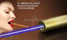 Buy online high powered Strong power military blue laser pointers 10w 10000mw 450nm burning match/dry wood/candle/black/cigarettes+5 caps