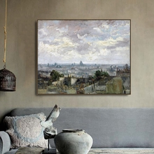 View of Paris towards Meudon by Van Gogh Posters and Print Canvas Painting Calligraphy Wall Pictures for Living Room Home Decor все цены