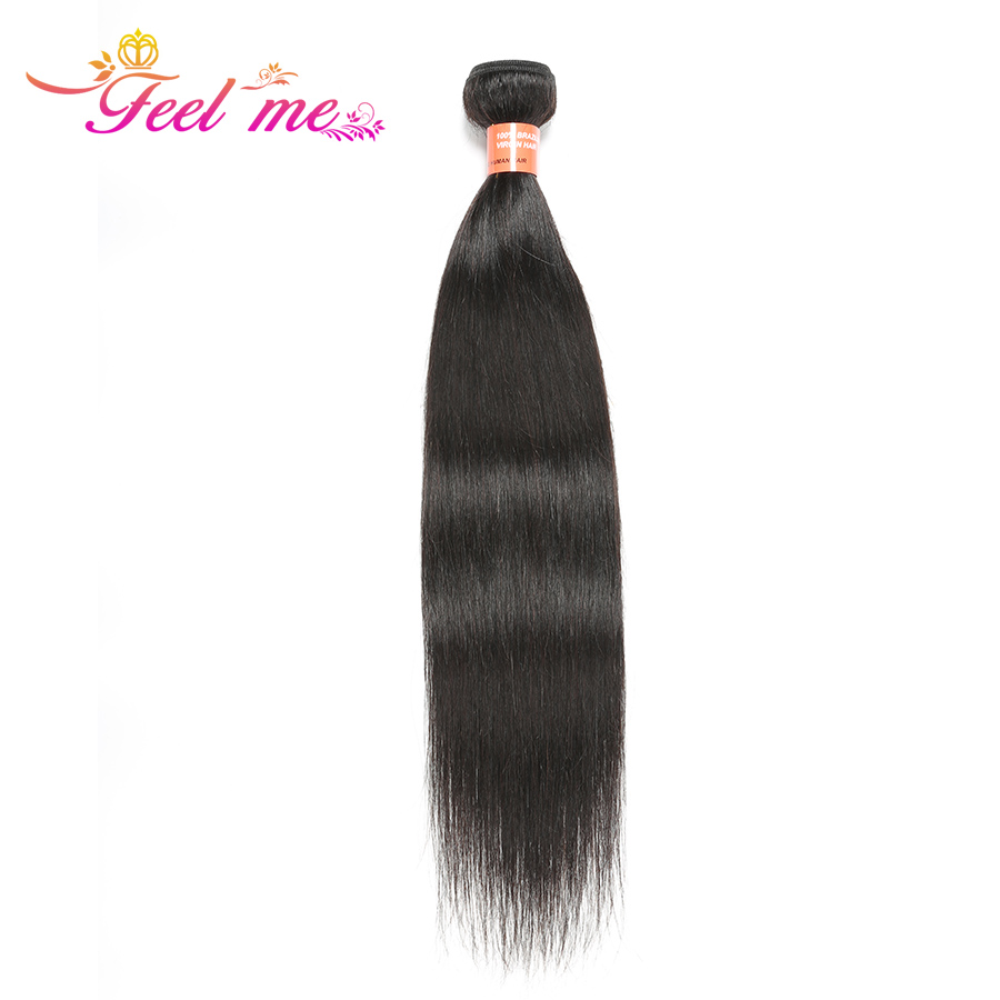 Feel Me Hair Brazilian Human Hair Straight Bundle Human Hair Extension Natural Color 10-28 Inches Hair Weave Non Remy