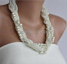 Wholesale Pearl Jewelry Handmade Bridesmaids Wedding Pearl White Necklace Brides Gifts Special Occasion – XZN152