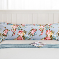 Best Sell Long Pillowcase Countryside Flower Body Pillow Protectors 100 Cotton Bolster Cover For Bedroom Decor