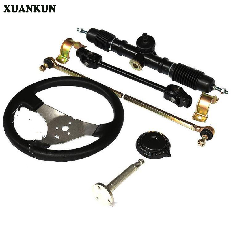 XUANKUN  Modified Three Rounds Of Four Electric Motorcycle Accessories DIY Karting Direction Steering Wheel Universal Joint Rod xuankun zoomer motorcycle electric car accessories modified foot pedal plastic case shell