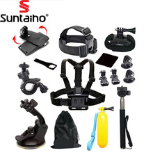 Suntaiho for GoPro accessories 13 in 1 Set Family Kit Go Pro SJ4000 SJ5000 SJ6000 accessories package for GoPro HD Hero 1 2 3 3+