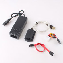 High Quality USB 2.0 to IDE SATA S-ATA 2.5 3.5 HD HDD Hard Drive Disk Adapter Converter Cable Kit