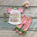 capris spring summer baby girls every bunny needs a little bling outfits girls Easter party clothing with accessories