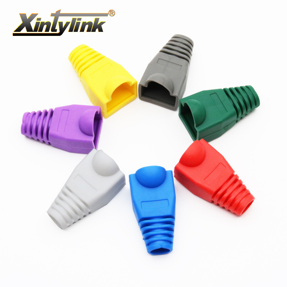 Xintylink rj45 caps cat5 cat5e cat6 rete ethernet connettore del cavo rj 45 guaina cat 6 manicotto protettivo multicolore