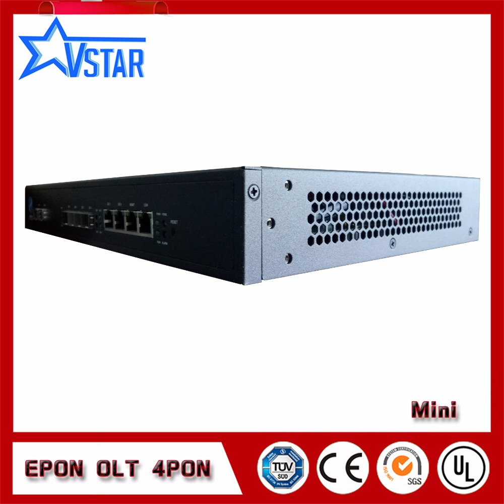 EPON OLT 4PORTS suit for HUAWEI ZTE FiberHome ONU ONT free NMS software