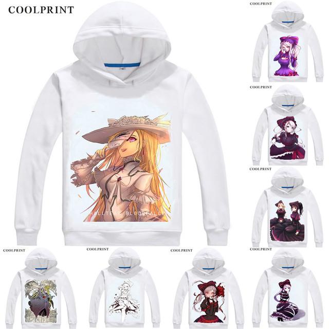 Overlord Hoodies Hooded Hoodie Anime Manga Shalltear Bloodfallen Sharutia Buraddoforun The Bloody Valkyrie Cosplay Sweatshirts