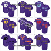 OEM Wholesale Thowback Baseball Jersey Custom Your Own Team Logo Player Name Number DIY Design For Men Women Youth Embroidered