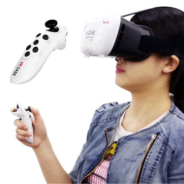 VR Portable Wireless Bluetooth 3.0 Remote Controller Selfie Shutter Mini Gamepad for iOS Android Smartphone Huawei xiaomi