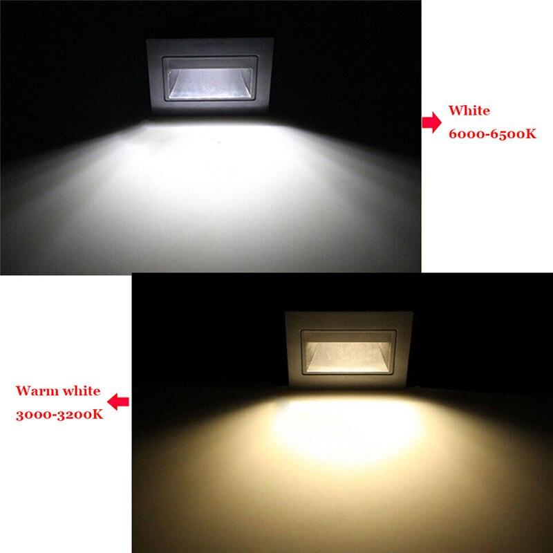 Human Body Infrared Induction 4 Colors Night Light Step Light 1W Warm white, White Wall Corner Lamps Ladder Sensor Light