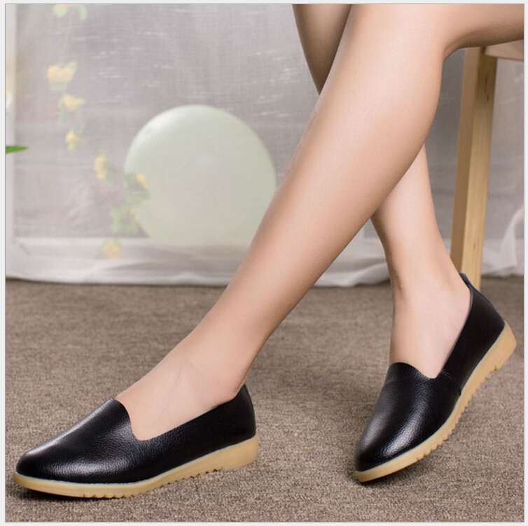 four seasons Women Flats 2017 Fashion Genuine Leather Flat Shoes Woman Soft Casual Loafers Women Shoes ежедневник four seasons america