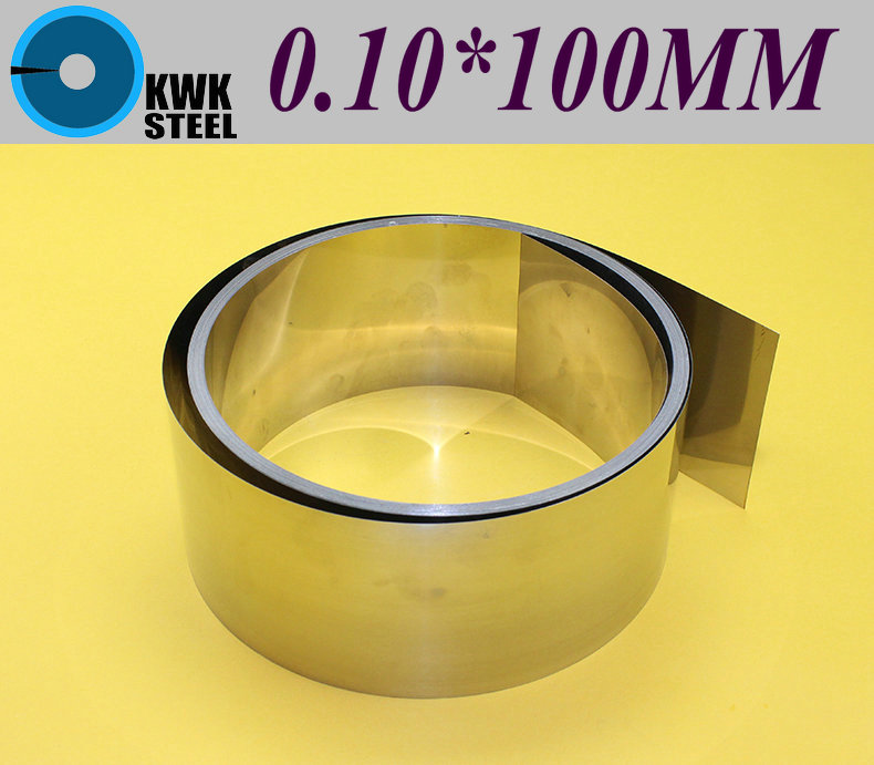 Stainless SUS304 Steel Strips 0.1*100*1000mm In Coil For Molds Distance Washer High Precision Parts Coiled Silicon Steel Sheet