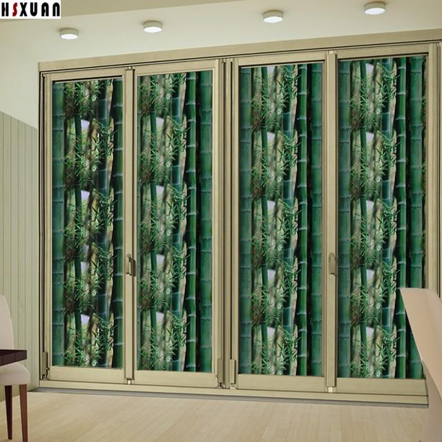 Bamboo Printed Dekorative Fenster Privatsphäre Film 50x100 Cm